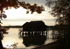 Abendstimmung am Plongsee