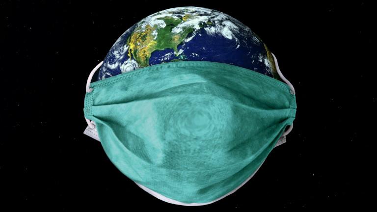 ein Mundschutz schützt die Welt