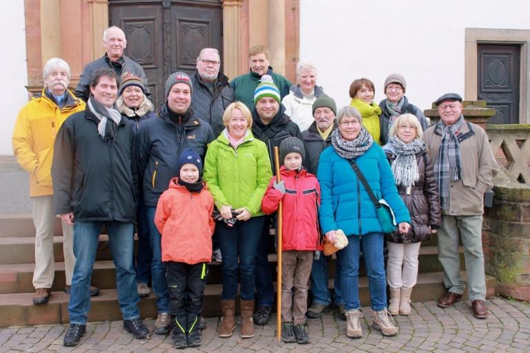 Gruppenbild der Winterwanderung